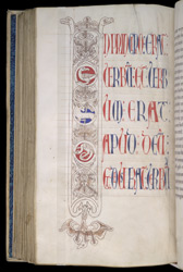 Pen-Drawn Historiated Initial With The Lamb Of God, In The Four Gospels